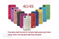 Silicone apple ip hone - 10pcs Glitter Bling Shining Hard Back Case For iP hone G plastic case cover Hard
