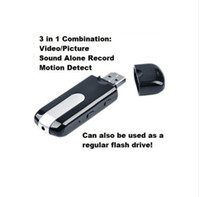 Wholesale U8 Spy Hidden Mini DV USB DISK Camera Motion Dection Video Recorder Camcorder