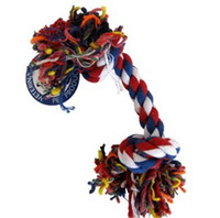 Wholesale 50Pcs Dog Puppy Pet Cotton Braided Bone Rope Chew Knot Toy