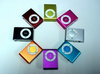 Wholesale clip mp3 music player with card slot mini mp3 player colors amp
