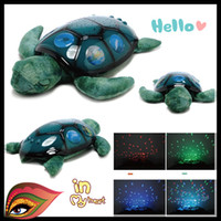 Wholesale 2013 LED turtle Sleeping Lights Star Projector sleep lamp stars light toy with Intelligent switch