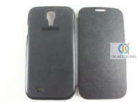 Wholesale Back Flip Leather Case Battery cover case for Samsung Galaxy S4 i9500
