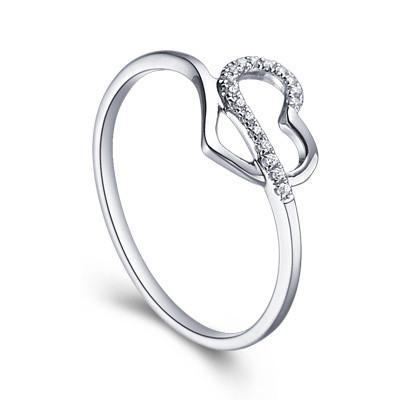 de diamants bagues de mariage pour les femmes de Coeur 0,10 ct Tour de ...