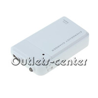 Wholesale 3 AA Battery USB Emergency Charger with LED Light for iPhone S White
