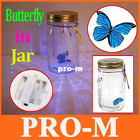 Wholesale Best Gift Electronic Flying Butterfly Electronic Butterfly in a Jar Cute Gift for kids dropshipping