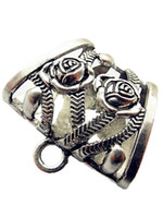 Wholesale 12pcs Alloy jewellery scarf slide holding tube DIY Scarf charms scarf