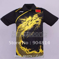 Wholesale Li Ning Man s London Olympic Games T Shirt Chinese national flag Table