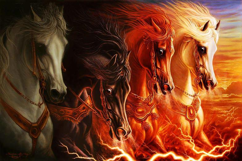 Abstract Fire Paintings Abstract Fire Horses Oil