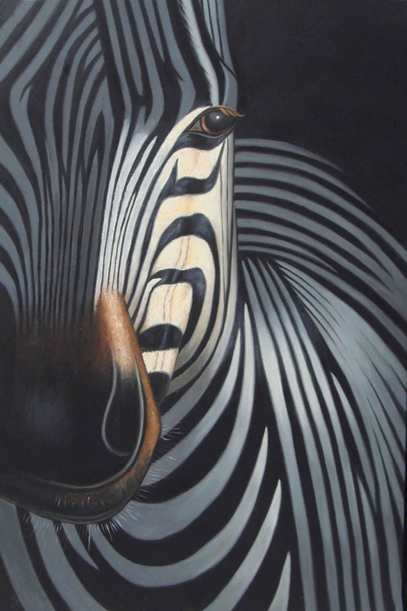 zebra oil painting - photo #16