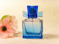 Wholesale Beautiful Colored Glass Perfume Bottle Excellent Condition Art Glass Makeup Container ml