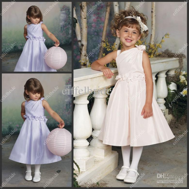 Toddler Formal Girl Dress Spagetti Strap Ruched A Line Tea Length ...