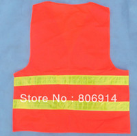Wholesale 100pcs high visibility warning Reflective Safety Vest reflective jacket working cl GA2789