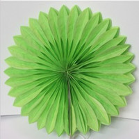 Wholesale 10 piece per cm Colorful Tissue Paper Fan Wedding Hanging Paper Fan Ceremony Party Decoration