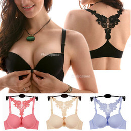 Wholesale New Sexy Women Front Closure Lace Racer Back Racerback Push Up Bra