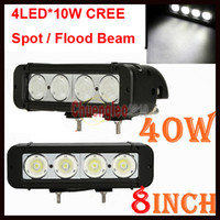 Wholesale 2pcs quot W CREE LED Work Light Bar LED W CREE Driving Off Road SUV ATV WD x4 Jeep Boat Spot Flood Beam lm High Power Truck Lamp