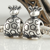 Wholesale bead suppliers kangaroo animal large hole chiliam silver loose beads for DIY jewelry accessories link LW062