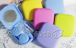 Wholesale sweet color Cute Lovely Travel Portable Contact Lens Lenses Container Case Set mate Holder Box