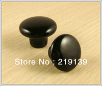 Wholesale Black Ceramic Bedroom Furniture Kitchen Cabinet Pulls Drawer Porcelain Knobs Handles