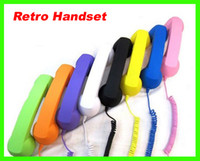 Wholesale Best price colorful mm Retro Radiation Telephone Colorful Handset for Mobile Cell Phone