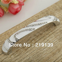 Wholesale 10Pcs mm Crystal Furniture Cabinet Handle Drawer Pull Kitchen Door Knob Wardrobe Hardware