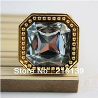Wholesale 10 mm Crystal Glass Clear Cabinet Pulls And Knobs Handle Kitchen Door Wardrobe Hardware