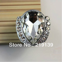 Wholesale Crystal Knobs Glass Kitchen Dresser Drawer Cabinet Pulls And Knobs Classic Door Handle Bedroom Furniture Hardware