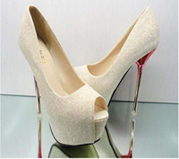 Wholesale Hot selling lady s Sexy High Heels Peep Toe sweetness High Heels Pumps Weddings sandals