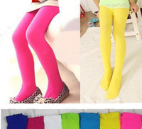Girl kids pantyhose - Velvet Pure color Children Tights Kids pantyhose Dancing Long Socks Ten colors