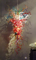 best art gallery - CE UL Mouth Blown Glass Chandelier Chihuly Craft Art Gallery Chandelier Best Gift New Year Lighting Excellent Color Glass Art