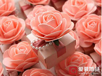 Wholesale 30Pcs Beautiful Pink Flower Candy Boxes Wedding And Party Favor Gift Box