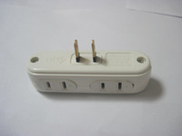 Wholesale one port US AC power splitter to port Power Socket Outlet Receptacle adapter power converter hub