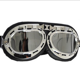 Wholesale Best price VINTAGE MOTORCYCLE CRUISER HELMET PILOT GOGGLES BIKER