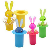 Wholesale Creative Lovely Rabbit Toothpick Holder Dispenser Toothpick box