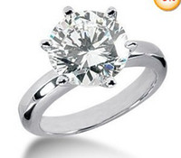 Wholesale Fashion jewelry Wedding Engagement White Crystal Gold Filled Ring