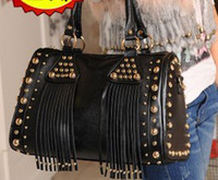 Wholesale New arrival hot sale special fashion popular punk rivet fringed handbag tide shoulder bag