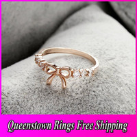 Wholesale Flower Ring For Women Simple Diamond Butterfly Golden Ring Vintage Cheap Jewerly