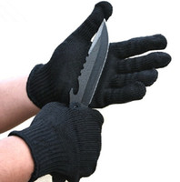 anti knife gloves - Cut resistant ANTI Folding knife cut tearing abrasion safety working protective gloves pair