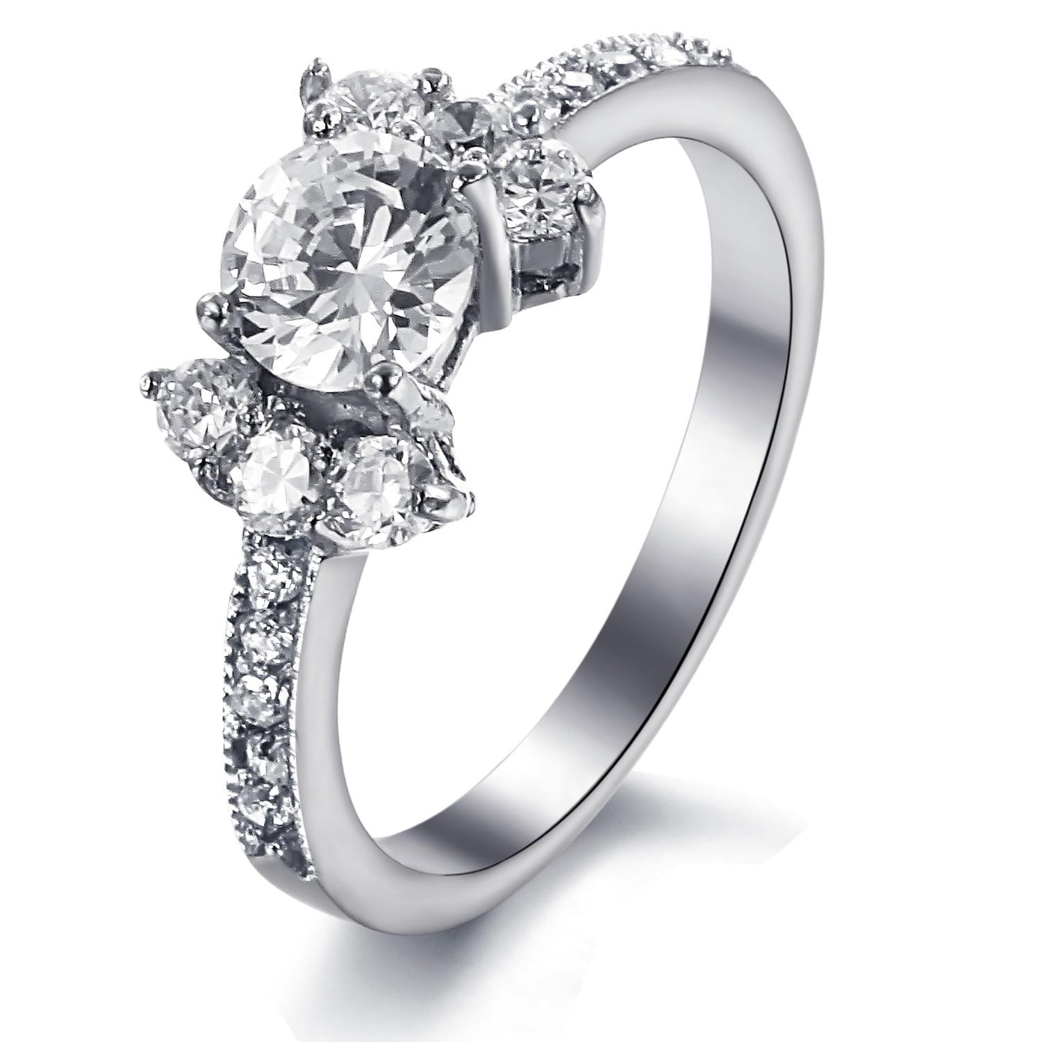 Bowknot Ring Exquisite Diamond Bowknot Ring