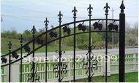 Wholesale fence manufacturer iron fence metal gate many kinds of types for customer order WJD