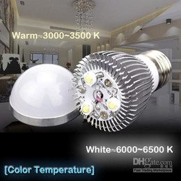 High power CREE 9W Led bulb Bulbs Dimmable 3x3W E27 85-265V LED Lights downlight Ball Lamp