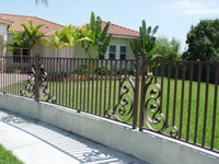 Wholesale Galvanized Wrought Iron Fence Antique Wrought Iron Fence