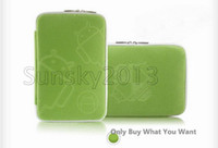 Wholesale Good Zipper Closed Android Style Soft Cloth Case Bag Pouch For inch Tablet PC Mix Color