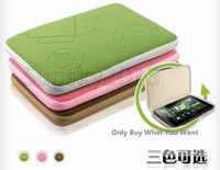 Wholesale Best Zipper Closed Android Style Soft Cloth Case Bag Pouch For inch Tablet PC Mix Color