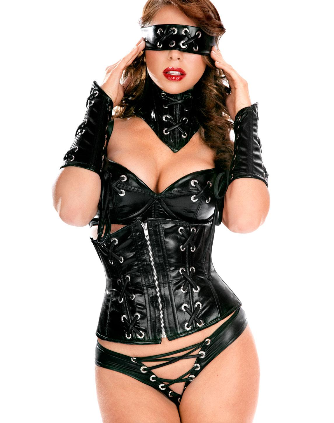 Wholesale Sexy Women s Leather Lingerie Daring Wetlook Faux Leather
