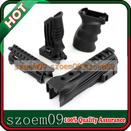 Wholesale 4 in Handguard Picatinny Rail System Tactical Grip Foldable Hand ForeGrip Set for AK Series AEG