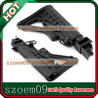 Stock ak butt stock - 6 Position Solid Locking Collapsible Black Butt Stock With QD Sling Swivel quot For AK Series