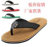 Wholesale Beckham summer fashion shoes slip resistant Men beach slipper flat male flip flops shoes