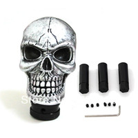 Wholesale Universal Car Truck Auto Carved Skull Stick Shift Gear Shifter Knob Silver