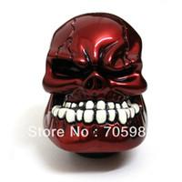 Wholesale Red Universal Car Truck Auto Human Skull Stick Shift Gear Shifter Knob