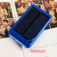 Wholesale 5000 mAh Solar charger mobile power supply travel charger for mobile phone digital camera mp4 mp3